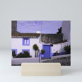 Home in Nazare Mini Art Print