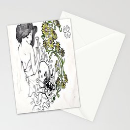 Flowers Figure Stationery Cards