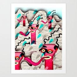 Ugly Mountain Detonation I Art Print