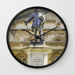 Oliver Cromwell Statue Wall Clock