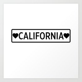 Love California Art Print