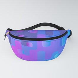 Purple Blue And Pink Liquid Type Abstract Design Fanny Pack