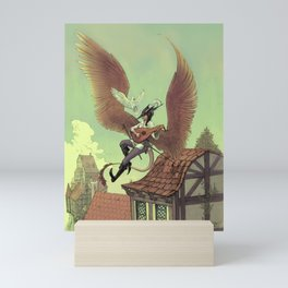 Winged Bard Mini Art Print