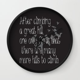 Cool life quotes Wall Clock