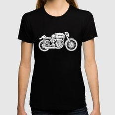 Norton Model 30 - Cafe Racer series #2 Womens Fitted Tee Black MEDIUM