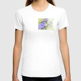 Serenity Prayer Morning Glories Glow T-shirt