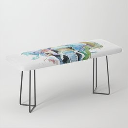 Animal painting Bench