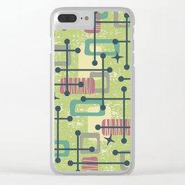 Mid Century Modern Abstract Pattern 832 Clear iPhone Case