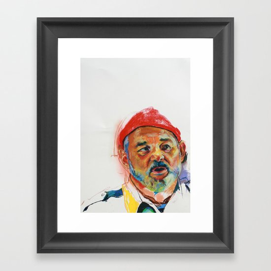 Bill Murray Portrait Framed Art Print