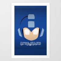 mega man Art Prints featuring Mega Man by Sport_Designs