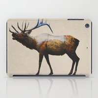 rocky iPad Cases featuring The Rocky Mountain Elk by Davies Babies