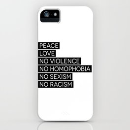 Peace and Love and ... iPhone Case