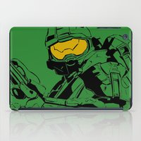 master chief iPad Cases featuring Halo Master Chief by Ashley Rhodes