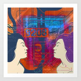 Immersed in New York Art Print