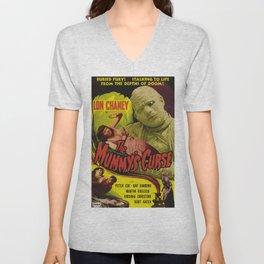 The Mummy's curse, vintage horror movie poster Unisex V-Neck