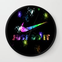 lakers Wall Clocks featuring NIKE by Bilqis
