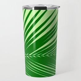 Large Palm Leaf, Emerald and Lime Green Travel Mug