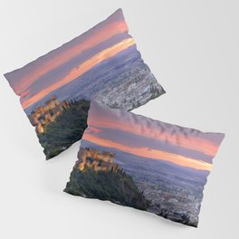 The alhambra and Granada city at sunset Pillow Sham