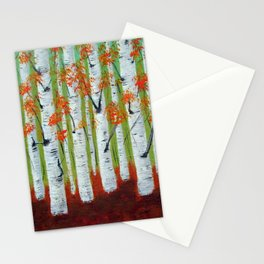 Atumn Birch trees - 5 Stationery Cards