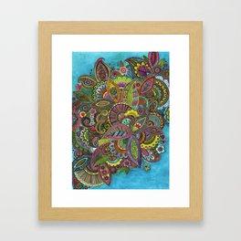 Evie's Garden Paisley Framed Art Print