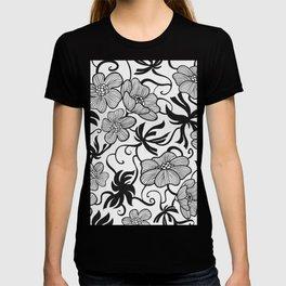 Paris 1929 - Retro Vintage Poppy Flowers T-shirt