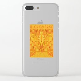 Art-Deco Microverse Clear iPhone Case