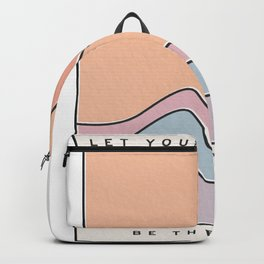 "Ocean Surf ""Let Your Happiness Be the Waves"" // Chill Retro Minimalist Colorful California Summer  Backpack"