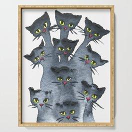 Huntsville Whimsical Black Cats Serving Tray