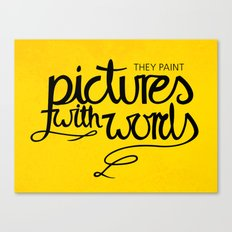 Painted Words Canvas Print