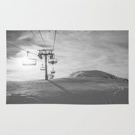 Alps ski lifts Rug