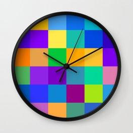 Damier Mosaïque Wall Clock