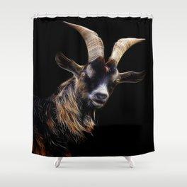 goat fractalius Shower Curtain