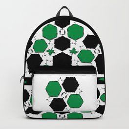 Green Black Backpack