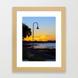 Wynnum Sunset Framed Art Print