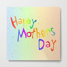 Happy Mothers Day Card Metal Print