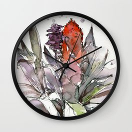 20130413 Ginger Plant at Gardens By The Bay Wall Clock