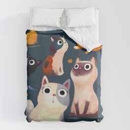 Cat Print Duvet Cover