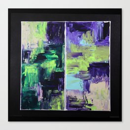 Violet & Green On A Rainy Day Canvas Print