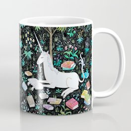 The Unicorn is Reading Coffee Mug