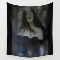 imagerybydianna Wall Tapestries featuring blind reflection by Imagery by dianna