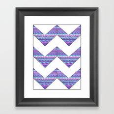 Patterned chevrons Framed Art Print