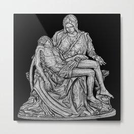 Pieta - from my hand etching Metal Print