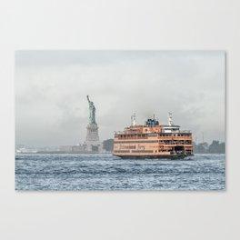 Ferry & Liberty Canvas Print