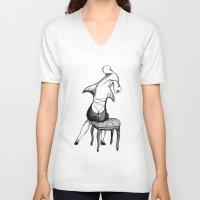 shark V-neck T-shirts featuring Shark by Ilya kutoboy