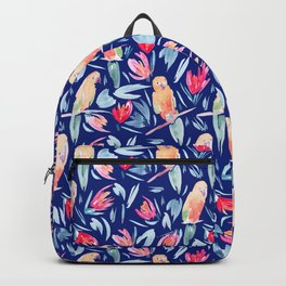 Watercolour Tropical Birds Backpack