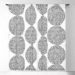 Beech in Black and White Blackout Curtain