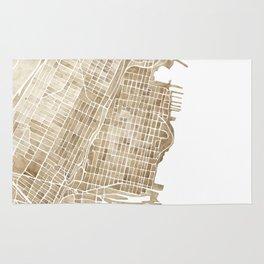 Hoboken New Jersey city map Rug