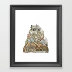 Sweet Home I // Forest Illustration Framed Art Print