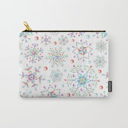 Snowflake Kaleidoscope Carry-All Pouch