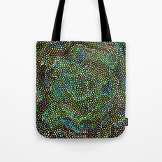 Peacock Rose Abstract Tote Bag